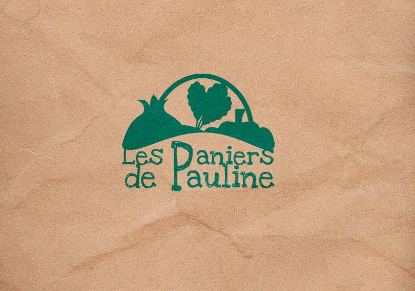 creation de logo Paniers de Pauline