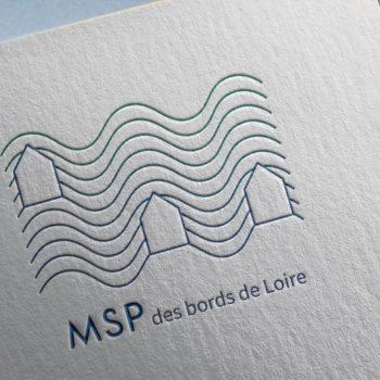 Graphisme : création du logo MSP des Bords de Loire